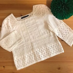 Zara White Crochet Top